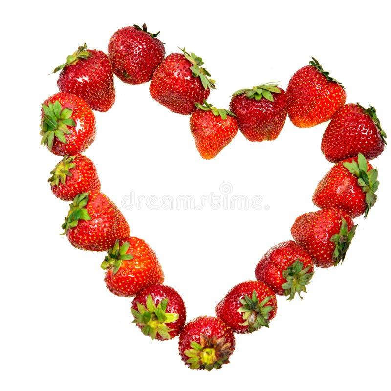 Inneres von der Erdbeere stockfoto