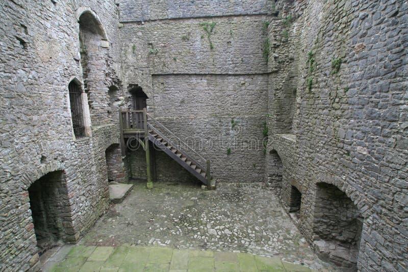Inneres Weobley Schloss lizenzfreies stockbild