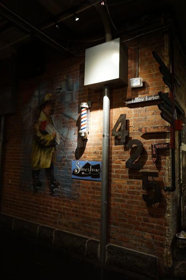 Innerhalb Chelsea Markets Manhattan, New York City Architektur stockbild