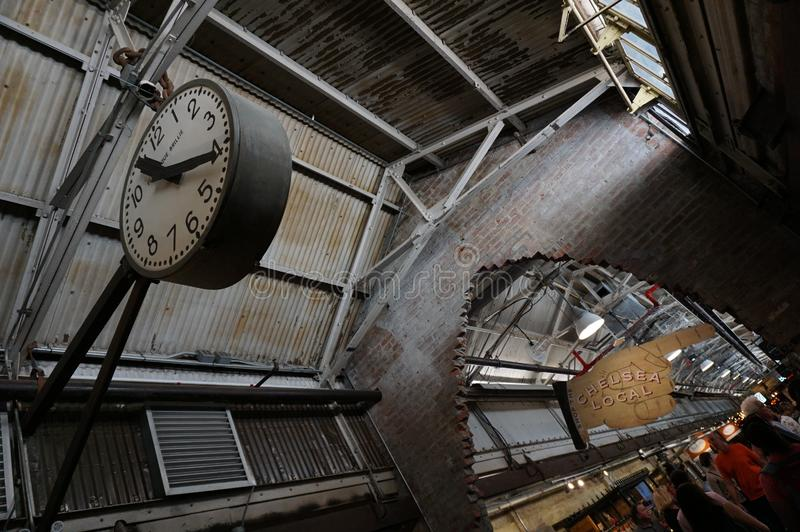 Innerhalb Chelsea Markets Manhattan, New York City Architektur lizenzfreie stockbilder
