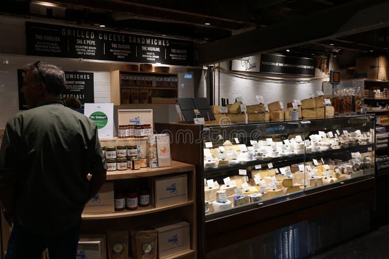 Innerhalb Chelsea Markets Manhattan, New York City Architektur lizenzfreie stockfotos