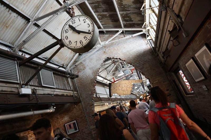 Innerhalb Chelsea Markets Manhattan, New York City Architektur stockbilder