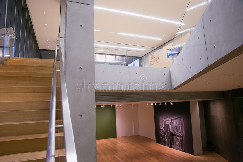 Innerhalb Clark Art Institutes in Williamstown Massachusetts lizenzfreie stockfotos