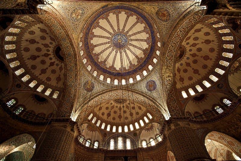 Innerhalb der blauen Moschee Instabul stockfoto