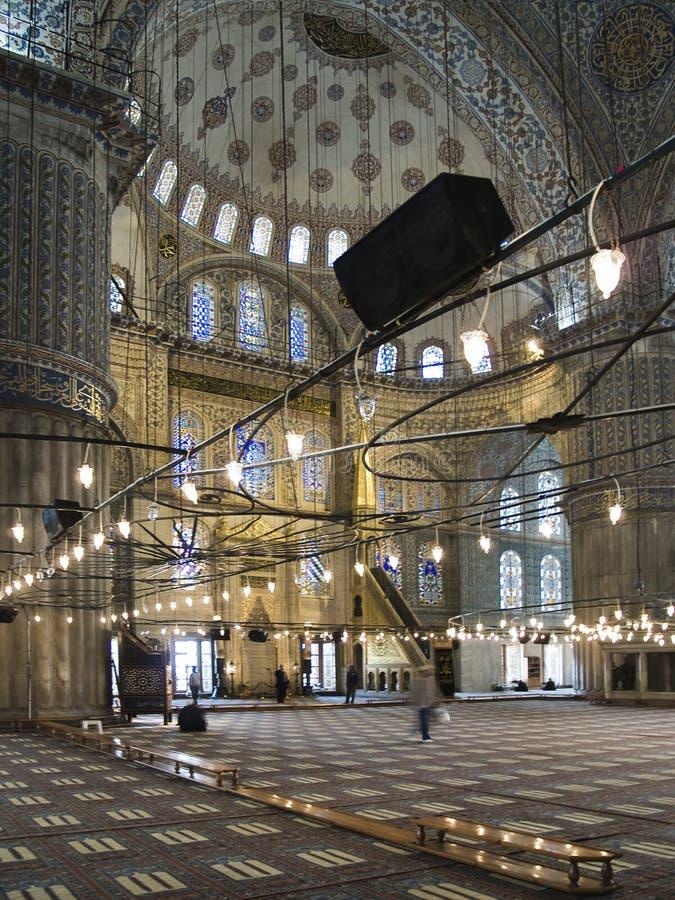 Innerhalb der blauen Moschee von Istanbul lizenzfreies stockfoto