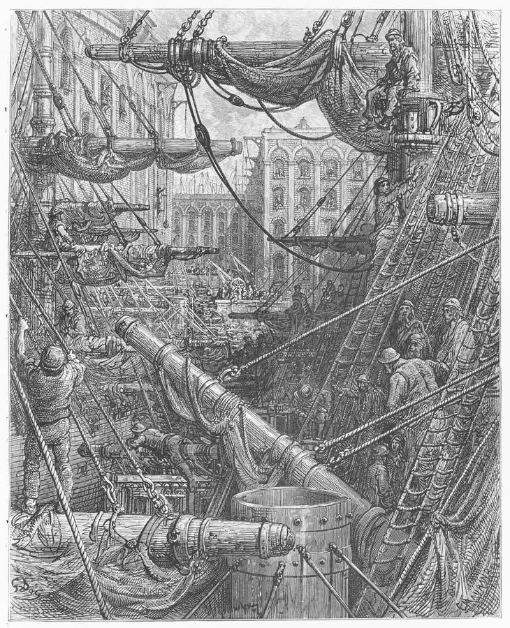 Innerhalb der Docks vektor abbildung