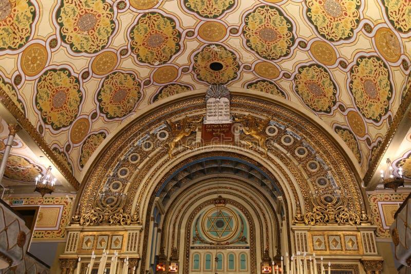 Innerhalb der großen Synagoge in Bukarest, Rumänien lizenzfreie stockbilder
