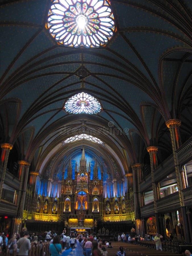 Innerhalb der Kirche Notre Dame Basilica in Montreal, Quebec, Kanada stockbilder