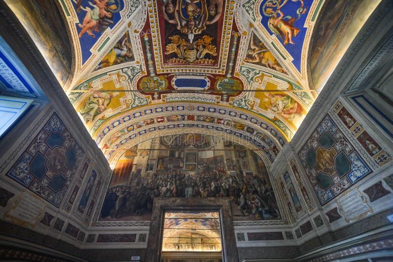 Innerhalb der Vatikan-Museen stockbild