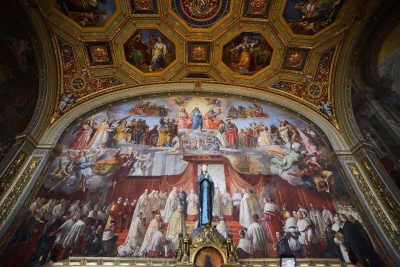 Innerhalb der Vatikan-Museen stockfotografie