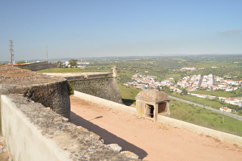 Innerhalb der Wand des Forts unserer Dame Of Grace In Elvas Natur, Architektur, Geschichte, Straßen-Fotografie 11. April 2014 Elv stockfotografie