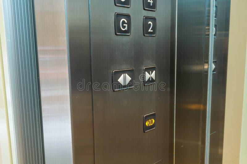 Innerhalb des Aufzugs lizenzfreie stockfotos