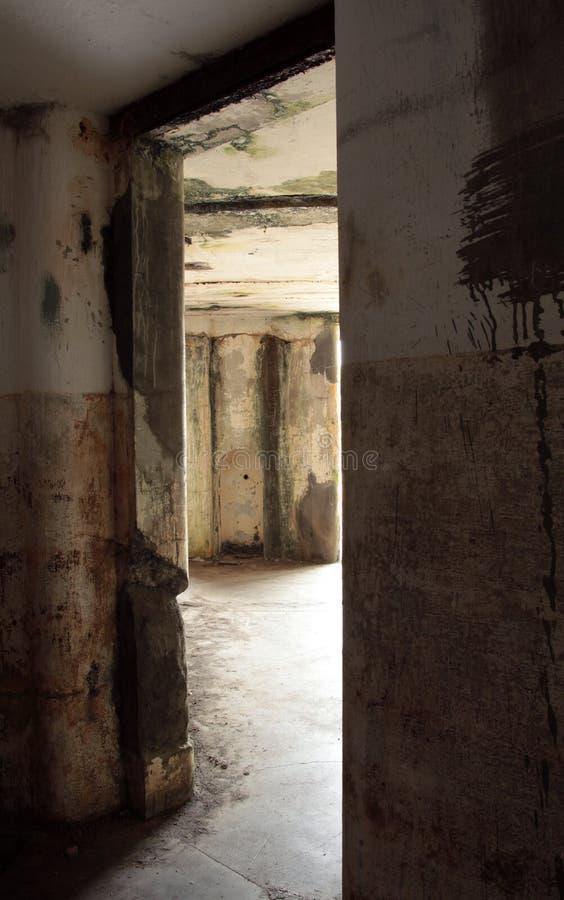 Innerhalb des Bunkers stockfotos