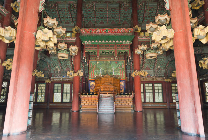 Innerhalb des Changdeokgung Palastes stockfotografie