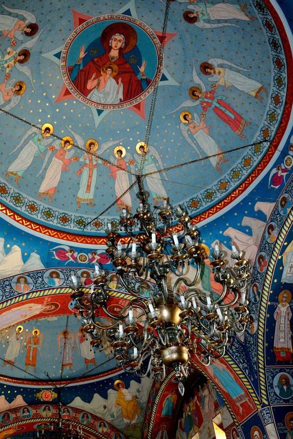 Innerhalb des churchl des Klosters Sambata, Fagaras stockbilder