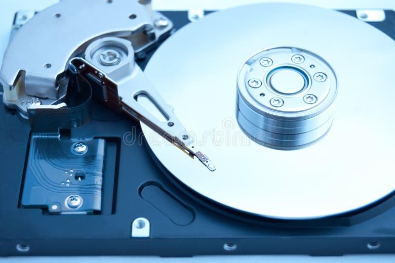 Innerhalb des Computers harddrive lizenzfreie stockfotos