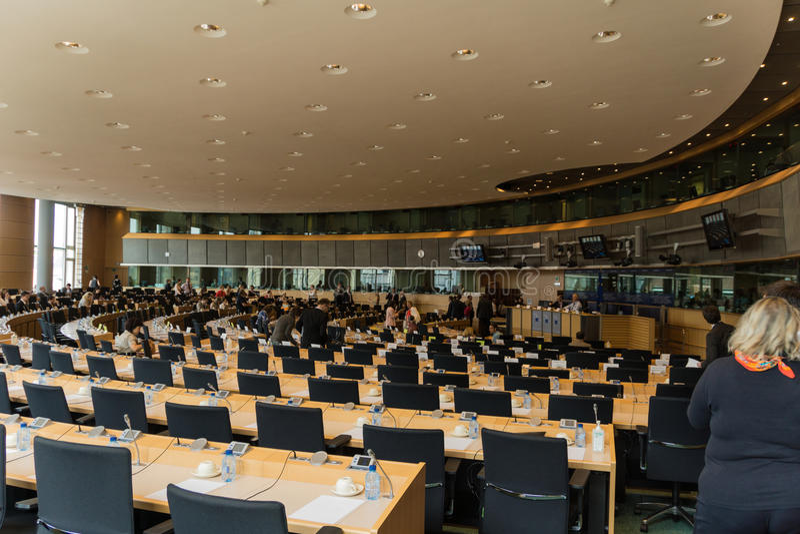 Innerhalb des Europäischen Parlaments lizenzfreie stockbilder