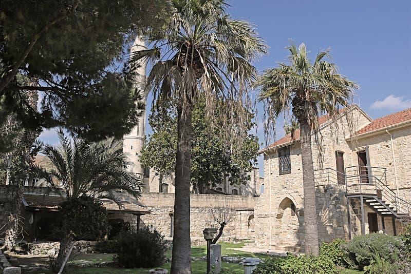 Innerhalb des mittelalterlichen Schlosses von Larnaka, Larnaka, in Zypern stockbilder