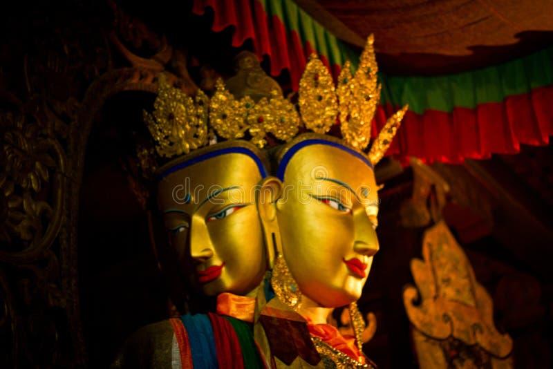 Innerhalb des Palkhor-Klosters Gyantse Tibet lizenzfreie stockfotografie