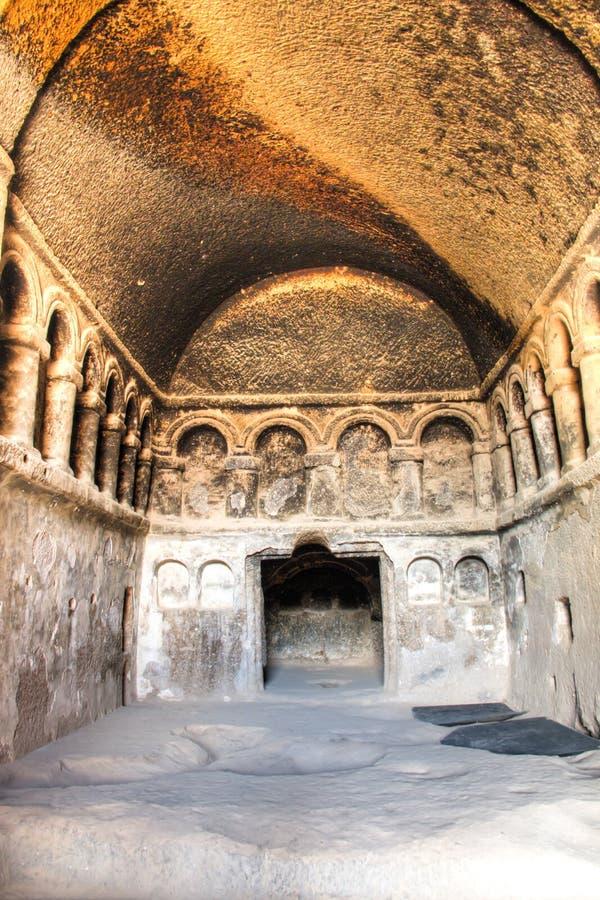 Innerhalb des Selime-Klosters in Cappadocia, die Türkei stockbilder