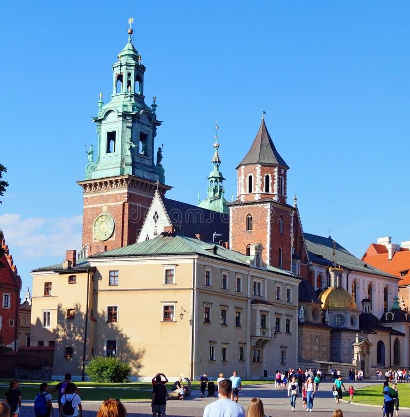 Innerhalb des Wawel-Schlosses Krakau lizenzfreie stockbilder