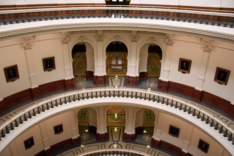 Innerhalb des Zustand-Kapitol-Gebäudes in im Stadtzentrum gelegenem Austin, Texas stockbild