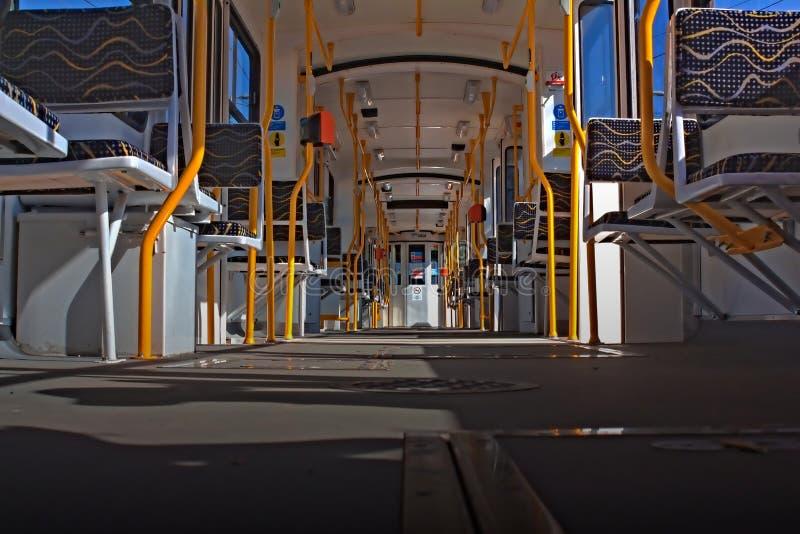 Innerhalb einer Tram in Budapest lizenzfreie stockfotografie