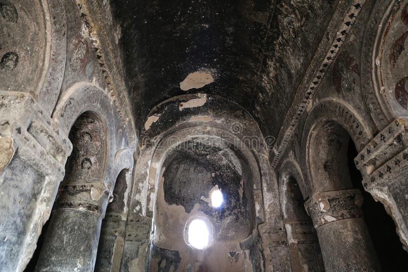 Innerhalb Selime-Klosters in Cappadocia, die Türkei lizenzfreie stockbilder