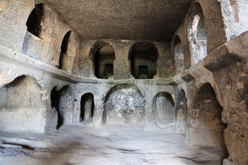 Innerhalb Selime-Klosters in Cappadocia, die Türkei lizenzfreie stockfotos