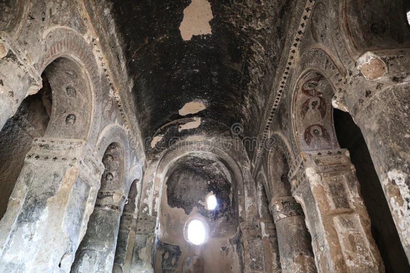 Innerhalb Selime-Klosters in Cappadocia, die Türkei lizenzfreies stockbild