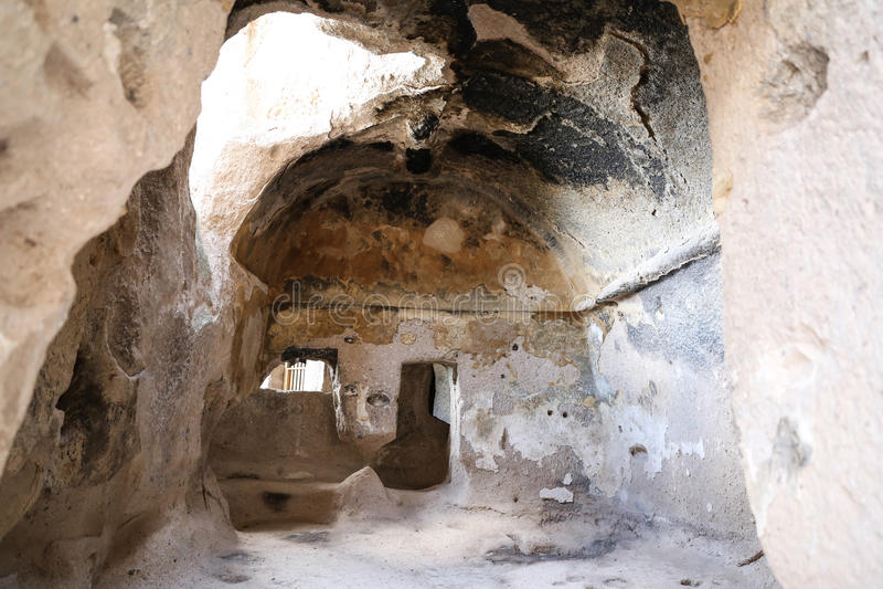 Innerhalb Selime-Klosters in Cappadocia, die Türkei stockbilder