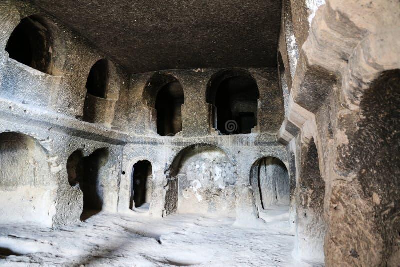 Innerhalb Selime-Klosters in Cappadocia, die Türkei stockfotos