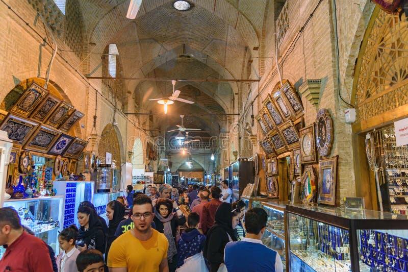 Innerhalb Vakil-Basars in Shiraz iran stockfotos