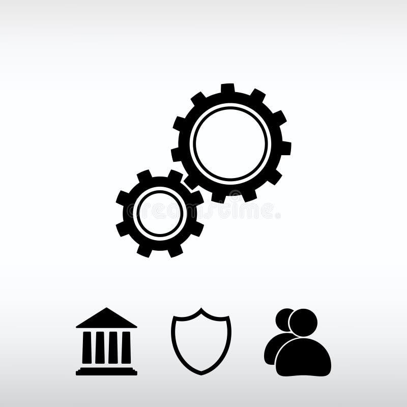 Innesta l'icona, illustrazione di vettore Stile piano di progettazione immagine stock