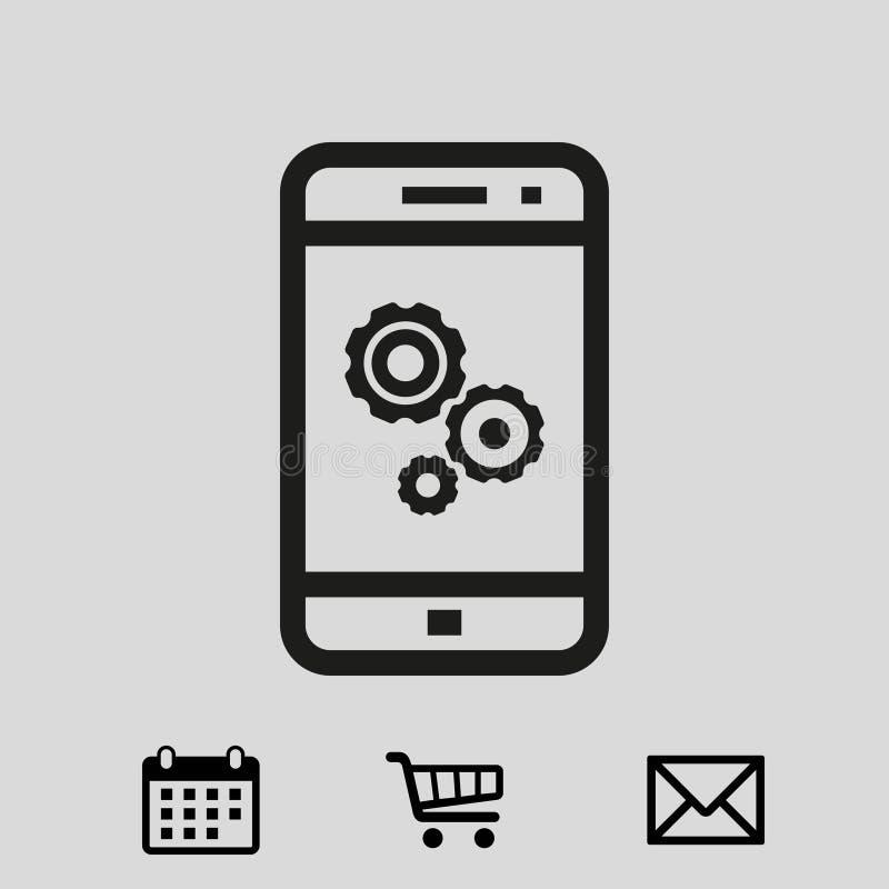 Innesti la progettazione piana dell'illustrazione di vettore delle azione dell'icona del telefono illustrazione di stock