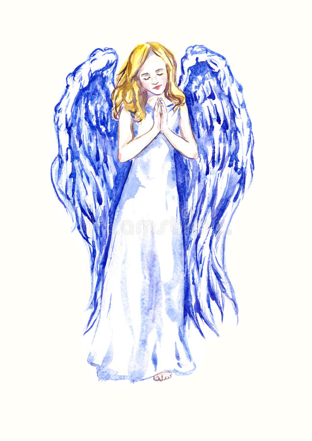 Free Innocent Beautiful Angel Praying Stock Photography - 79238562