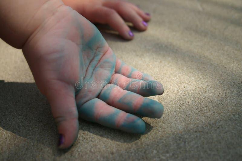 Download Innocent Hands stock image. Image of child, blue, toddler - 241873