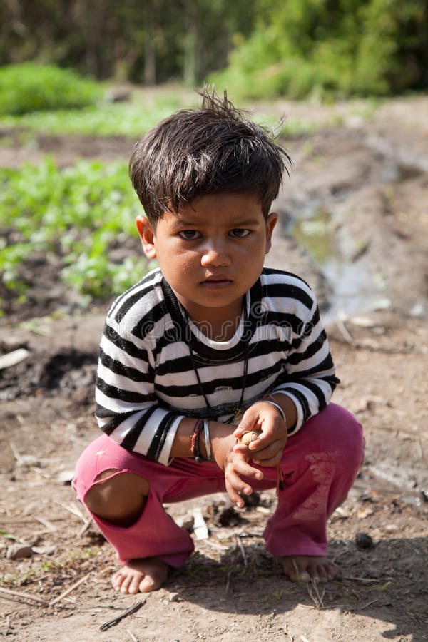 Download Innocent  indian child editorial stock image. Image of color - 25377114