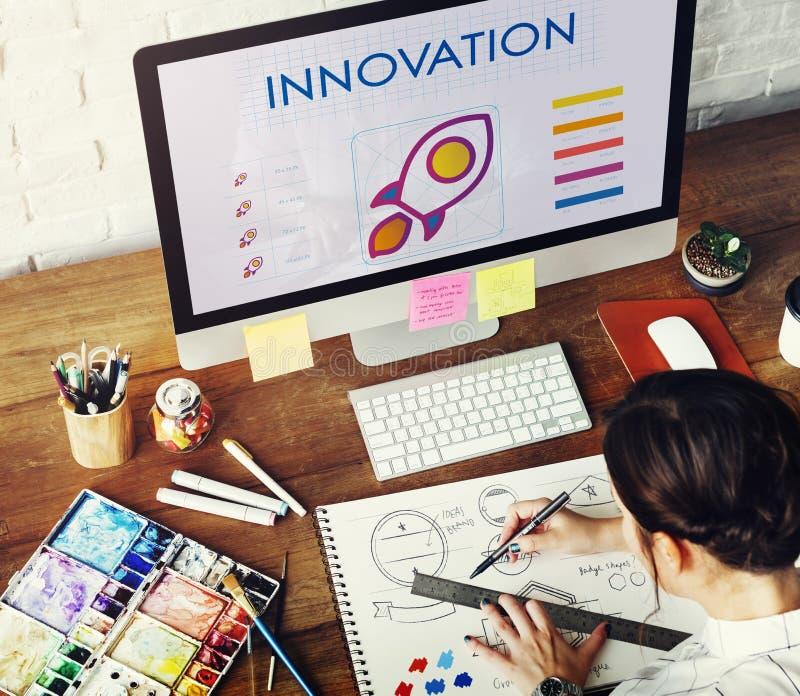 Innovación Rocket Technology Graphics Concept imagenes de archivo