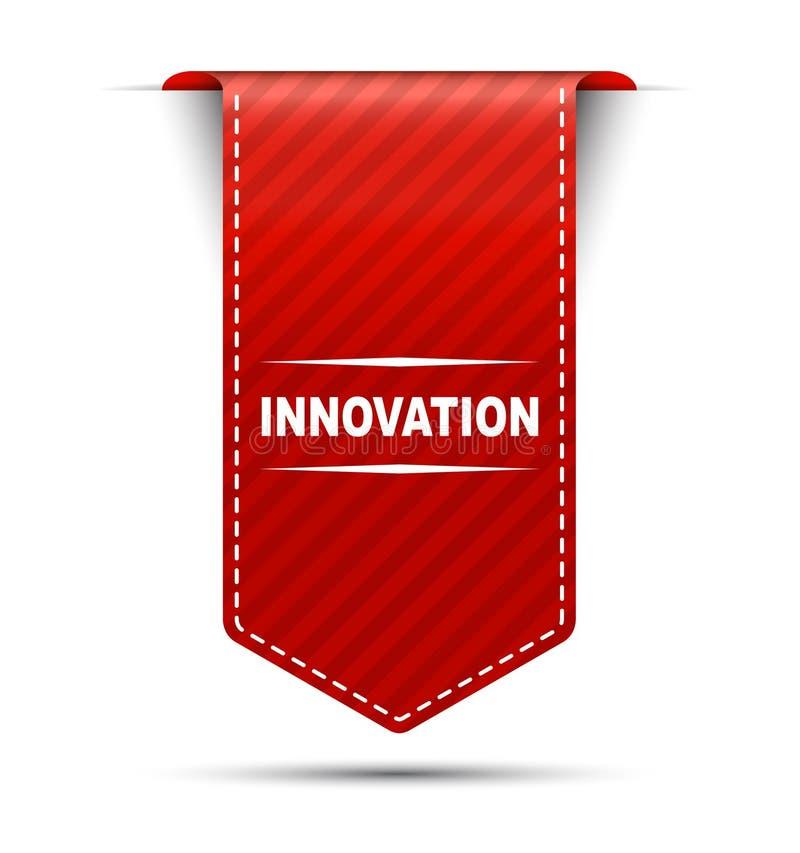 Innovación roja del diseño de la bandera stock de ilustración