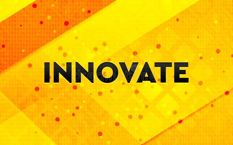 Innovate предпосылка абстрактного цифрового знамени желтая иллюстрация вектора