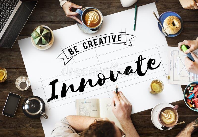 Innovate Aspiration Development Invention Vision Concept stock photos