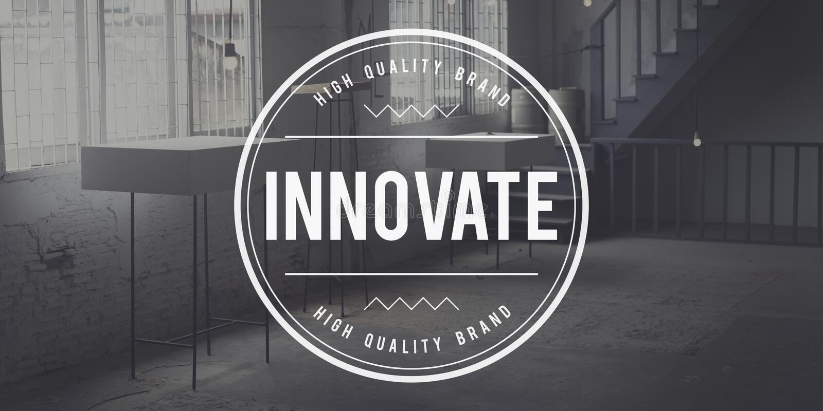 Innovate Innovation Technology Development Aspiration Concept royalty free stock image