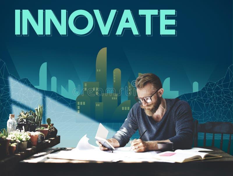 Innovate Innovative Architecture Skyscraper Structure Concept stock illustration
