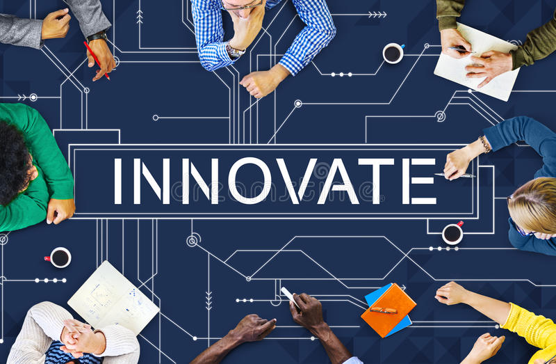 Innovate Technology Circuit Board Futuristic Concept stock photography