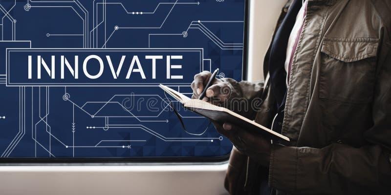 Innovate Technology Circuit Board Futuristic Concept stock photos