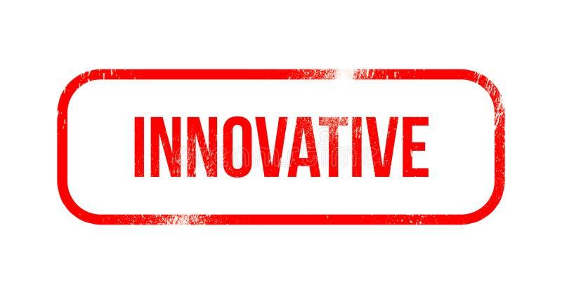 Innovateur - le caoutchouc grunge rouge, timbre illustration stock