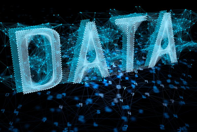 Innovatie en gegevensconcept vector illustratie