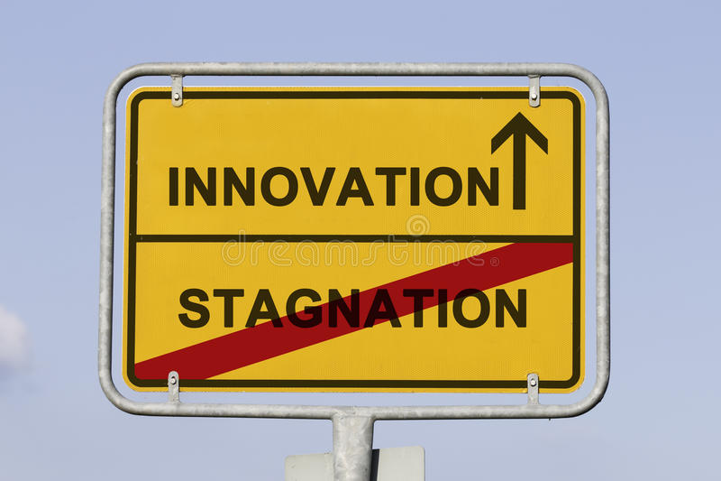 Innovatie en stagnatie stock fotografie