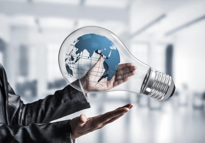 Innovaties voor het concept van de wereldbescherming stock afbeelding
